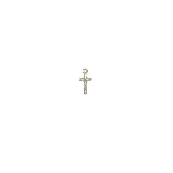 CZ89050P20 - Crucifixo Metal Prateado c/ 20un. - 1,8x0,8cm