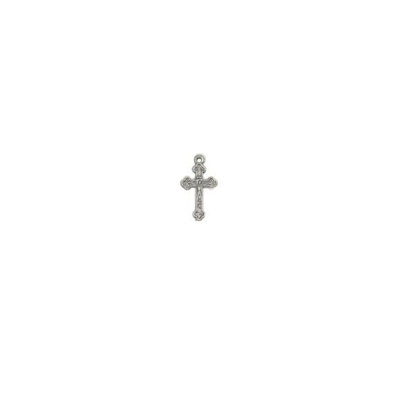 CZ89061P20 - Crucifixo Metal Níquel Envelhecido c/ 20un. - 2x1cm