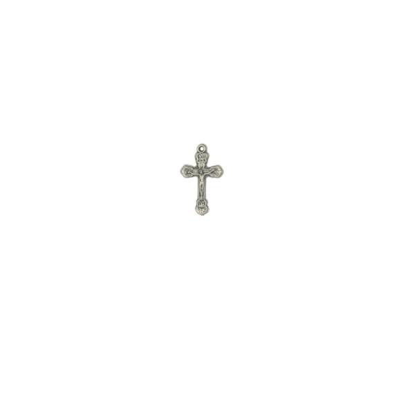 CZ89081P10 - Crucifixo Metal Níquel Envelhecido c/ 10un. - 2,5x1,5cm