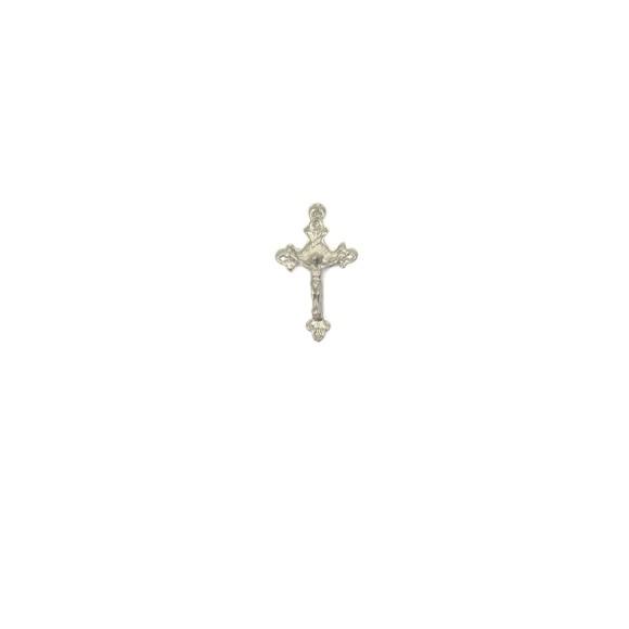 CZ89100P10 - Crucifixo Metal Níquel c/ 10un. - 3x1,8cm
