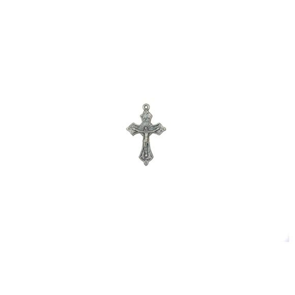 CZ86050P5 - Crucifixo Metal Níquel Envelhecido c/ 5un. - 3,5x2,2cm