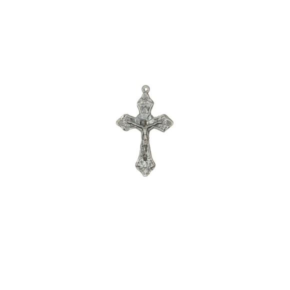 CZ86091P2 - Crucifixo Metal Níquel Envelhecidoa c/ 2un. - 4,5x2,8cm