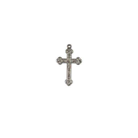 CZ86100P2 - Crucifixo Metal Níquel c/ 2un. - 4,5x2,6cm