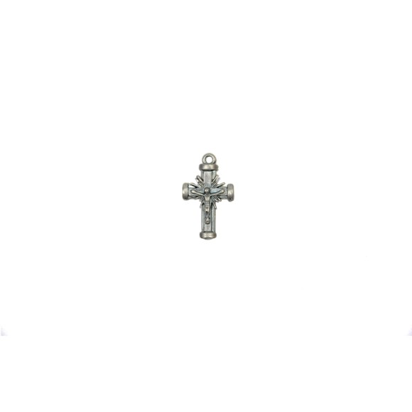 CZ86136P3 - Crucifixo Metal Níquel Envelhecido c/ 3un. - 3,5x2cm