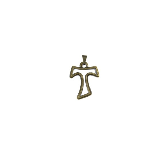 CZ86152 - Tau Metal Vazado Ouro Velho - 3,5x2,5cm