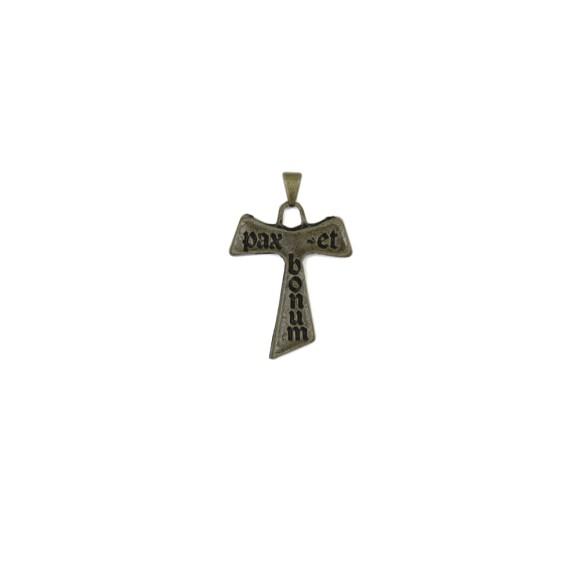 CZ86162 - Tau Metal Ouro Velho - 4x2,8cm