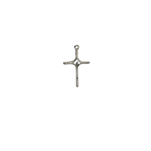 CZ86230P2 - Cruz Metal Níquel c/ 2un. - 4x2,5cm