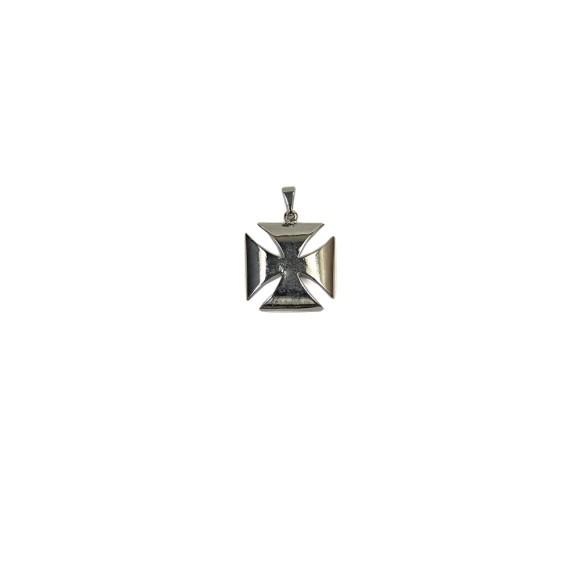 CZ86330 - Cruz Metal Malta Níquel - 2,3x2,3cm