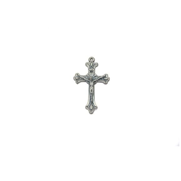 CZ86008P3 - Crucifixo Metal Níquel Envelhecido c/ 3un. - 5x3cm