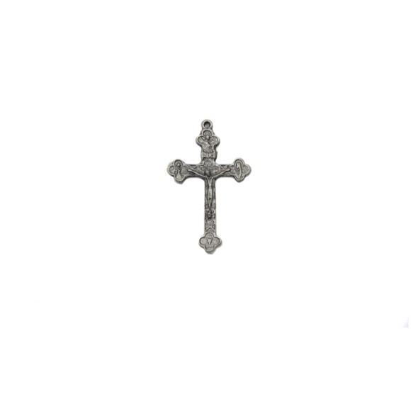 CZ86351P2 - Crucifixo Metal Níquel Envelhecido c/ 2un. - 5x3cm