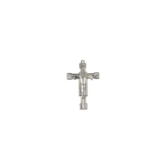 CZ85190 - Crucifixo Metal Níquel - 6,5x4cm