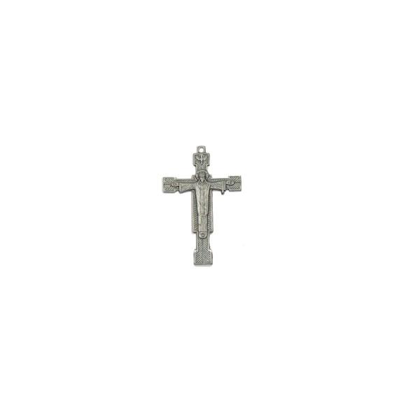 CZ85191 - Crucifixo Metal Níquel Envelhecido - 6,5x4cm