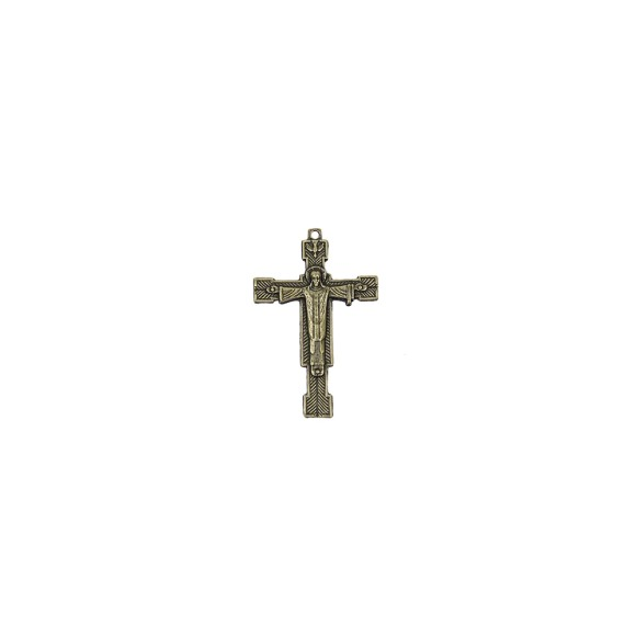CZ85192 - Crucifixo Metal Ouro Velho - 6,5x4cm