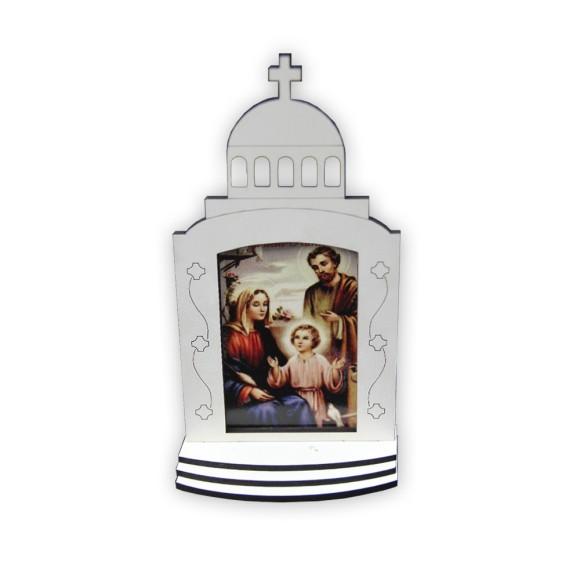 CP81350 - Capela Sagrada Família MDF Branca - 17,5x9cm