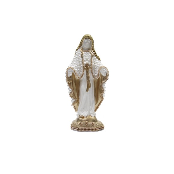 IM52001 - Imagem N. Sra. Das Graças c/ Pérola e Strass Dourada - 23x10cm