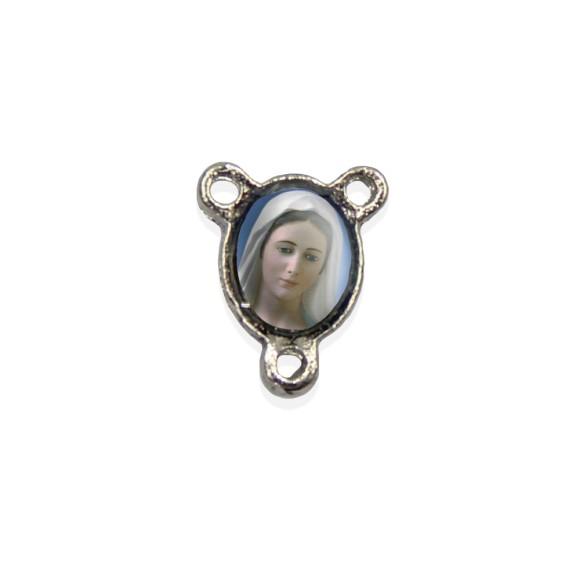 ET1670014P10 - Entremeio Rainha da Paz Resinado c/ 10un. - 1,5x1,1cm