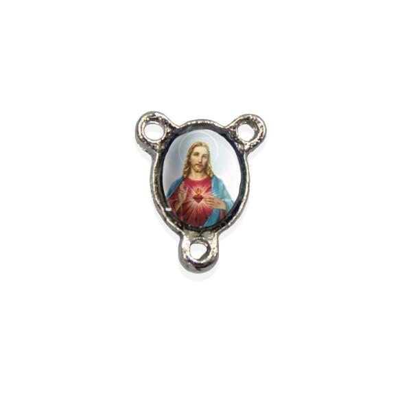 ET1670404P10 - Entremeio Sagrado Coração de Jesus Resinado c/ 10un. - 1,5x1,1cm