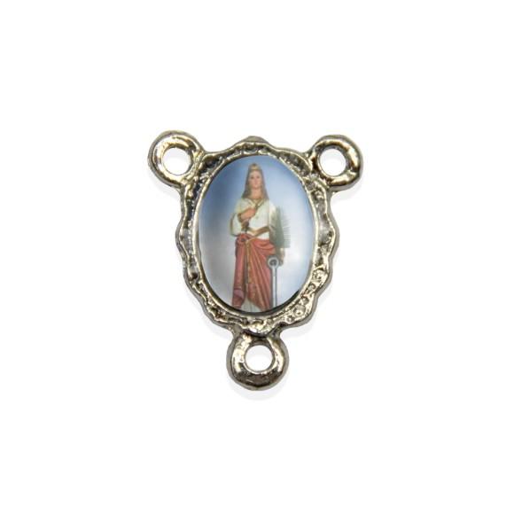 ET1671019P5 - Entremeio Santa Filomena Resinado c/ 5un. - 1,9x1,5cm