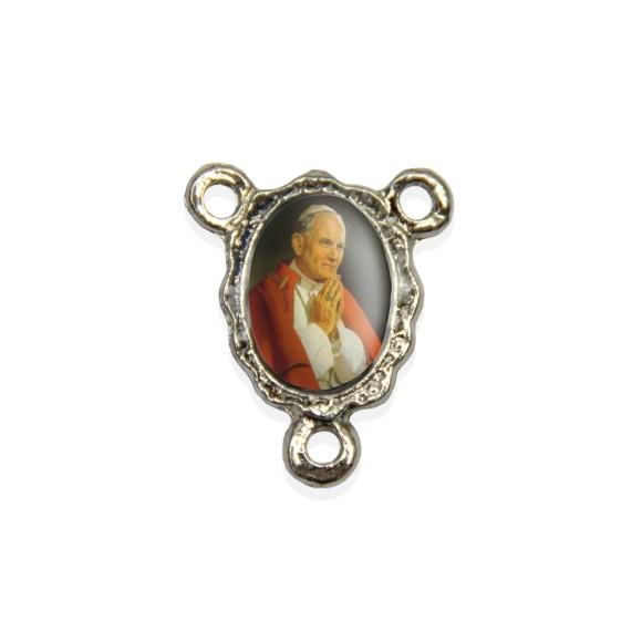 ET1671403P5 - Entremeio Papa João Paulo II Resinado c/ 5un. - 1,9x1,5cm