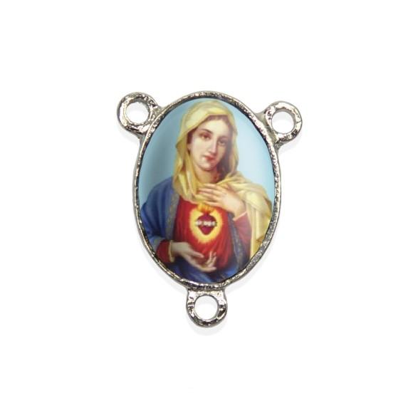 ET1680017P2 - Entremeio Sagrado Coração de Maria Resinado c/ 2un. - 2,5x2cm