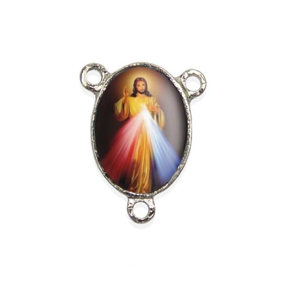 ET1680400P2 - Entremeio Jesus Misericordioso Resinado c/ 2un. - 2,5x2cm