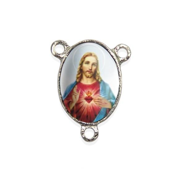ET1680401P2 - Entremeio Sagrado Coração de Jesus Resinado c/ 2un. - 2,5x2cm