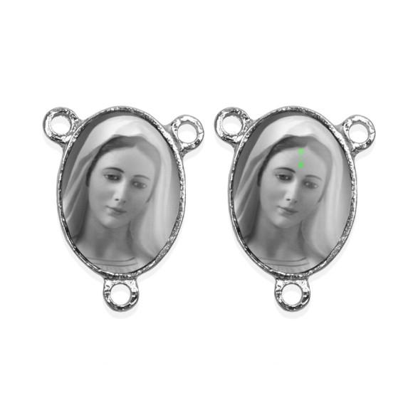 ET1681013P2 - Entremeio Rainha da Paz Duplo Resinado c/ 2un. - 2,5x2cm