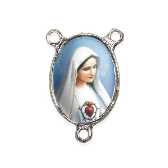 ET1682000 - Entremeio Imaculado Coração de Maria Resinado - 3,7x2,5cm