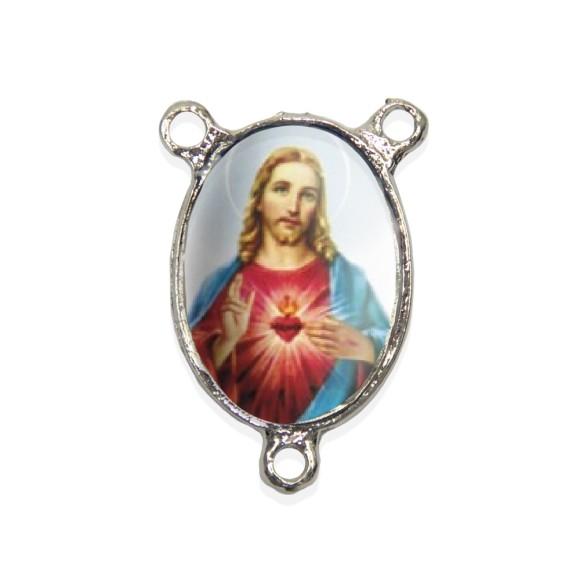 ET1682401 - Entremeio Sagrado Coração de Jesus Resinado - 3,7x2,5cm