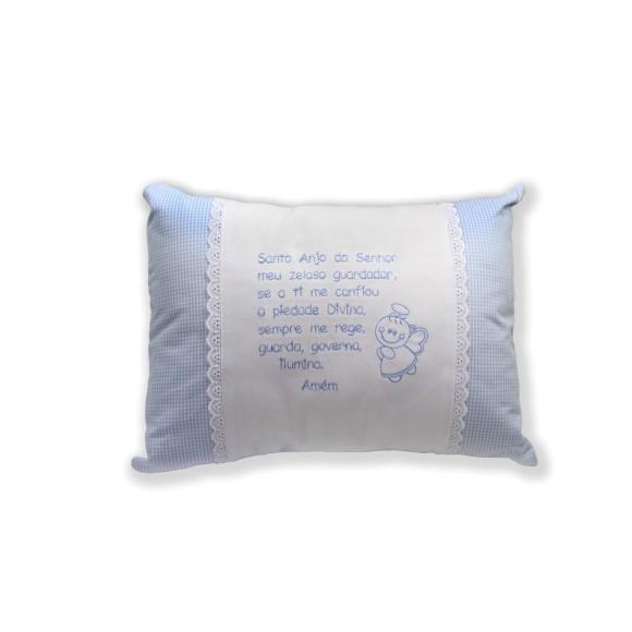 AL80101 - Almofada Santo Anjo Azul - 33x23cm