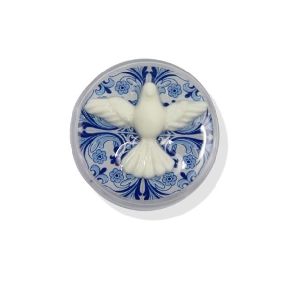 CXD75004P6 - Caixinha de Acrílico Divino Espírito Santo c/ 6un. - 3,5x3,5cm