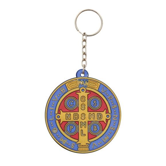 CH50411 - Chaveiro Medalha de São Bento Emborrachado - 11x5cm