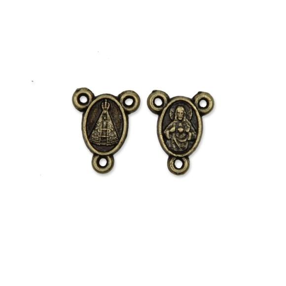 ET1610009P20 - Entremeio N. Sra. Aparecida Ouro Velho c/ 20un. - 1,3x1cm