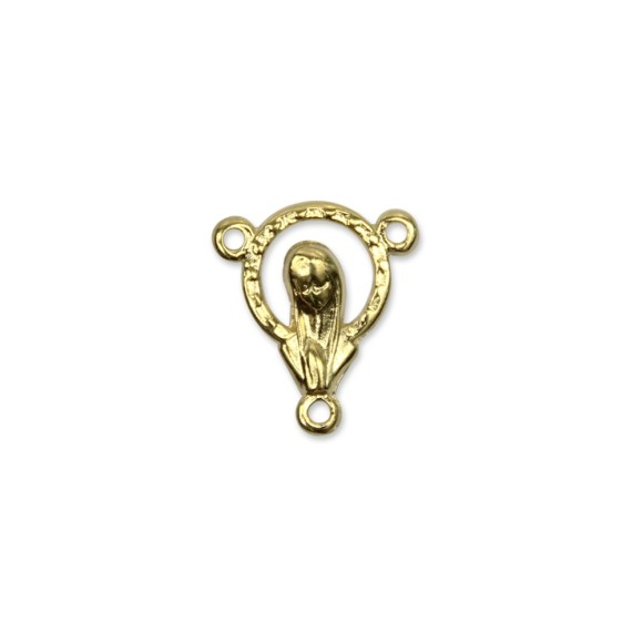 ET1650014P3 - Entremeio Nossa Senhora Dourado c/ 3un. - 1,6x1,4cm