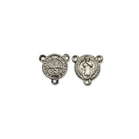 ET1630005P6 - Entremeio Medalha de São Bento Níquel c/ 6un. - 1,5x1,5cm