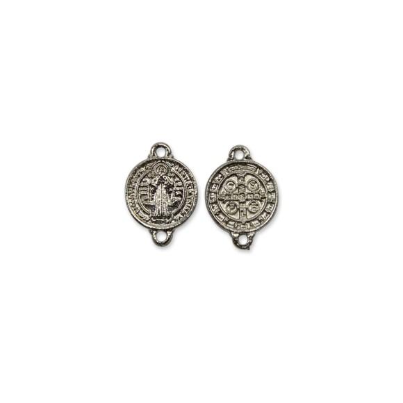 ET1630015P6 - Entremeio Medalha de São Bento Níquel c/ 6un. - 1,6x1,2cm