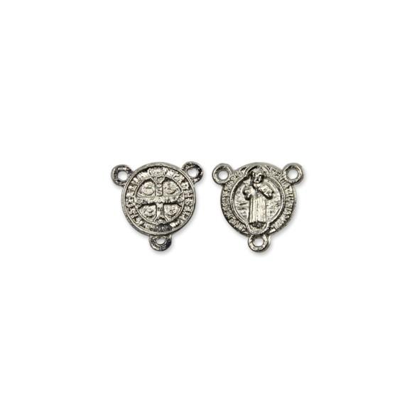 ET1630016P6 - Entremeio Medalha de São Bento Níquel c/ 6un. - 1,5x1,4cm