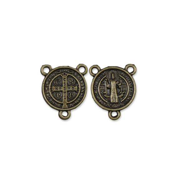 ET1630034P3 - Entremeio Medalha de São Bento Ouro Velho c/ 3un. - 2x2cm