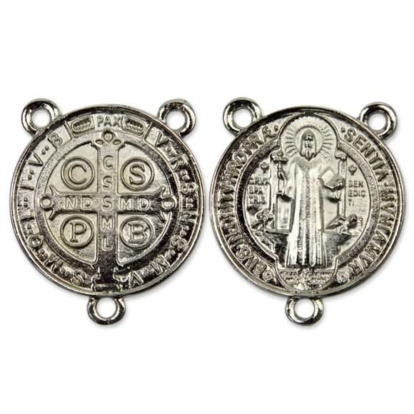 ET1630060 - Entremeio Medalha de São Bento Níquel - 5,2x4,3cm