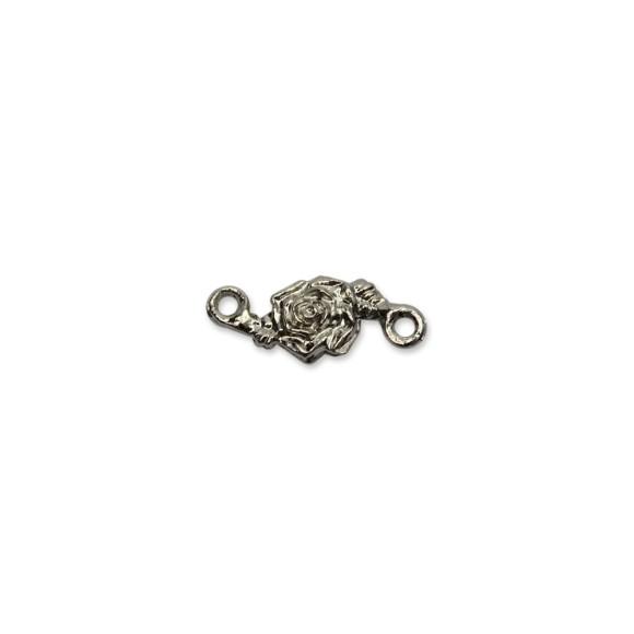 ET1640550 - Entremeio Rosa Níquel - 2x0,8cm