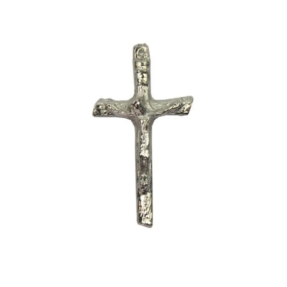 CZ86390P3 - Crucifixo Metal Níquel c/ 3un. - 5x2,5cm