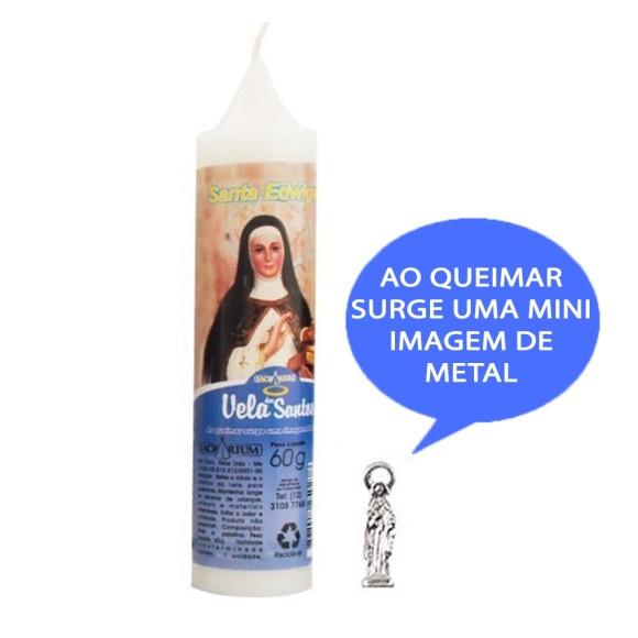 VE155105 - Vela Santa Edwiges c/ Santo de Bolso - 14x3cm
