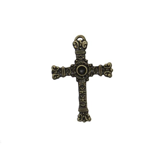 CZ85262 - Cruz Metal Ouro Velho - 6x4,1cm