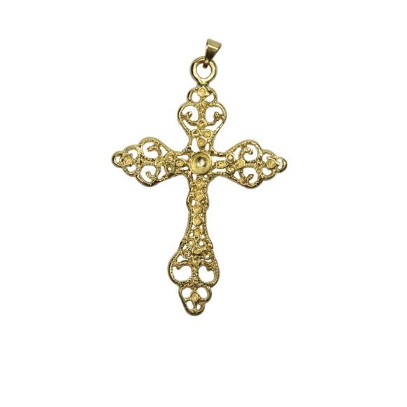 CZ85271 - Cruz Metal Dourado - 7,5x5cm