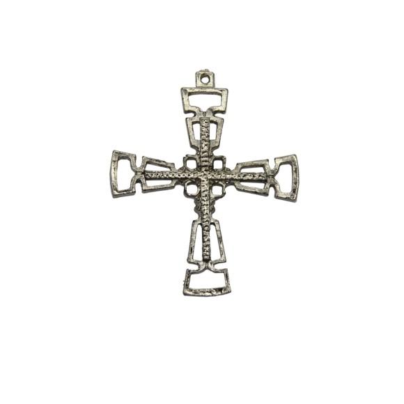 CZ85325 - Cruz Metal Níquel - 6,5x5,3cm