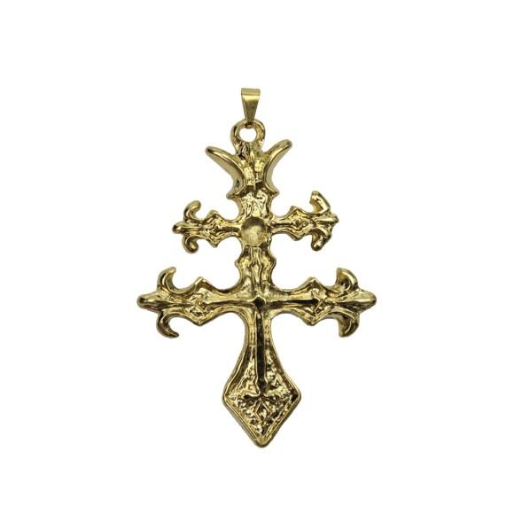 CZ85385 - Cruz Metal Dourado - 5,3x7,5cm