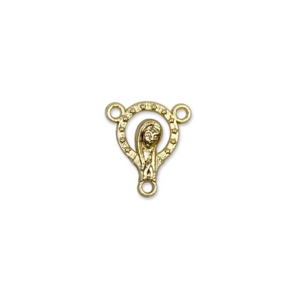 ET1650004P5 - Entremeio Nossa Senhora Dourado c/ 5un. - 1,8x1,5cm