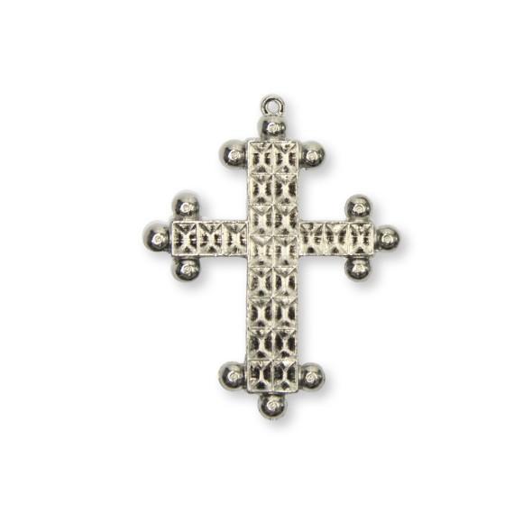 CZ85580 - Cruz Metal Níquel - 8,5x6,7cm