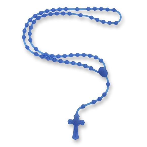TE144007 - Terço Silicone Azul Royal- 39cm