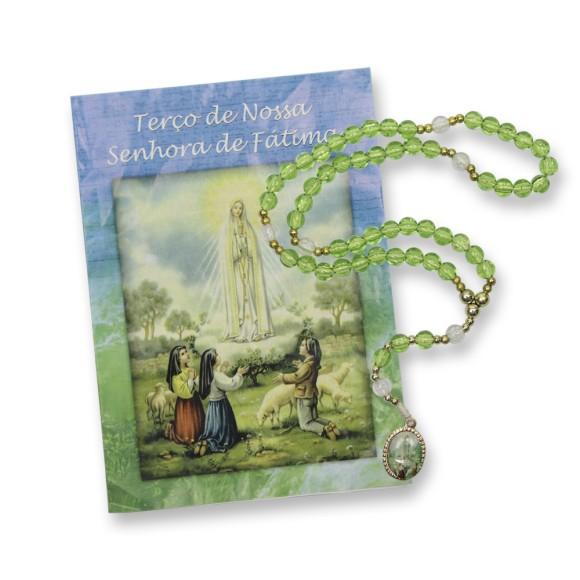 TE95007 - Terço c/ Oração N. Sra. De Fátima - 26cm